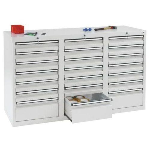 Szafka z szufladami, wys. x szer. x gł. 900x1500x500 mm, 18 szuflad o wys. 100 m