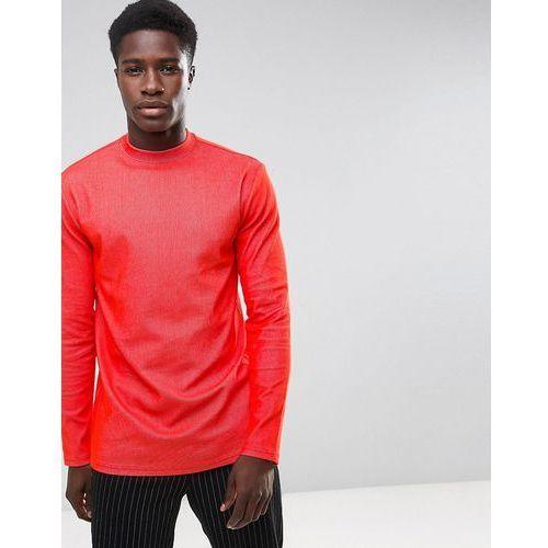 jake rib long sleeve t-shirt - red marki Weekday