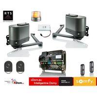 Axovia multipro 3s rts 24v comfort pack (2 piloty 4-kanałowe keygo, lampa z anteną, akumulator, fotokomórki) marki Somfy