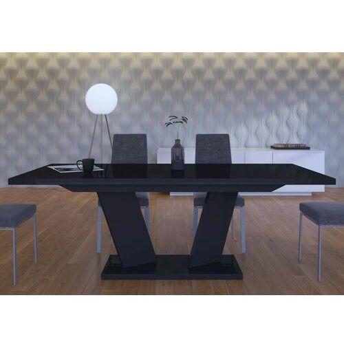 Stół rozkładany 160-210 Sommelier czarny wysoki połysk
