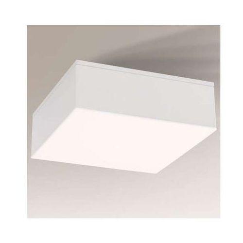 Shilo Lampa sufitowa tottori il 8006/led/bi kwadratowa oprawa natynkowa led 10w 3000k do łazienki ip44 biała