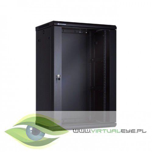 Linkbasic szafa wisząca 19 18u 450mm drzwi szklane