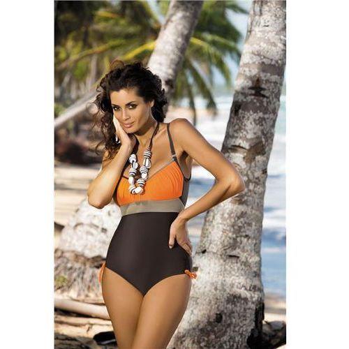 Kostium kąpielowy Whitney Sepia-Papaya-Fango M-253 Brązowo-pomarańczowy (229)