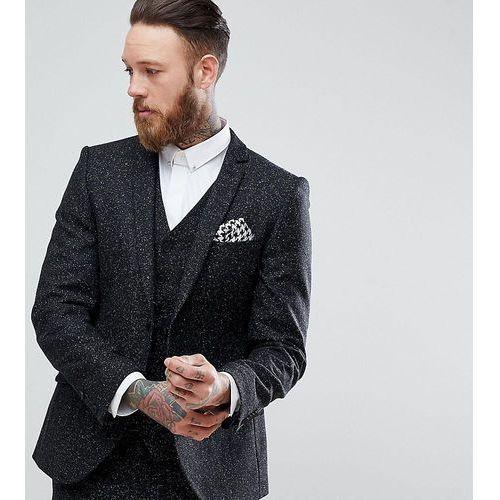 skinny suit jacket in herringbone fleck tweed - grey, Heart & dagger