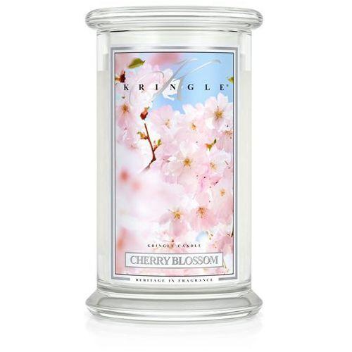 Cherry blosom świeca zapachowa kwiat wiśni duży słoik 22oz, 623g, 2 knoty marki Kringle candle