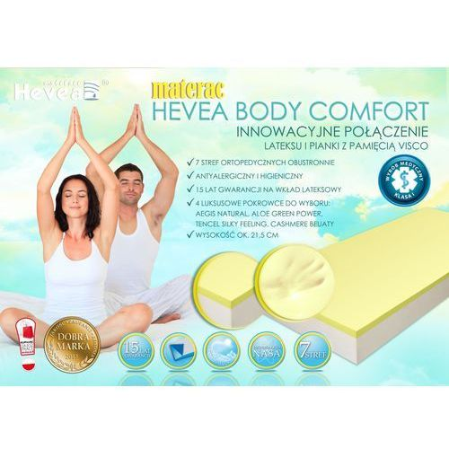 Materac lateksowy body comfort h3 marki Hevea