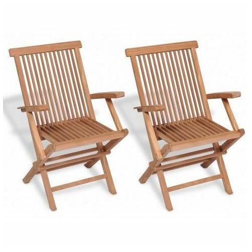 Drewniane krzesła ogrodowe Soriano 2X - 2 szt, vidaxl_41999