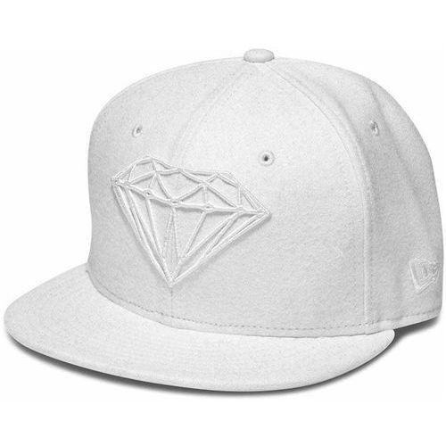 czapka z daszkiem DIAMOND - Brilliant Fitted White Wht (WHT) rozmiar: 7 1/8