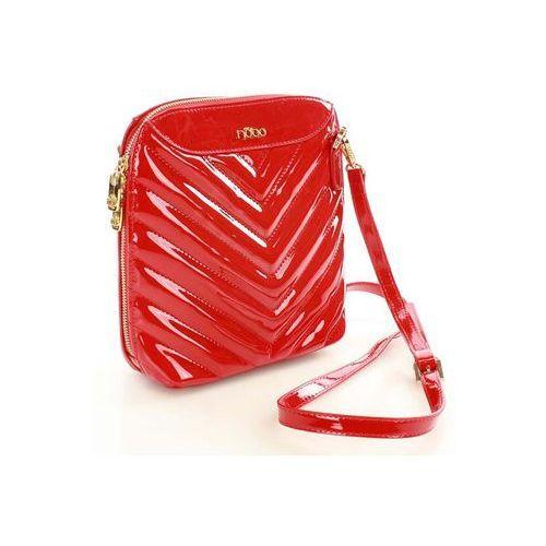Verostilo Czerwona lakierowana torebka na ramię