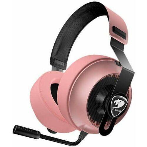 Cougar słuchawki gamingowe phontum essential, różowe (3h150p40p.0001)