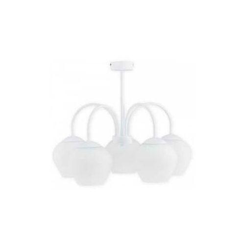 molto o2785 w5 bia plafon lampa sufitowa żyrandol 5x60w e27 biały mat marki Lemir