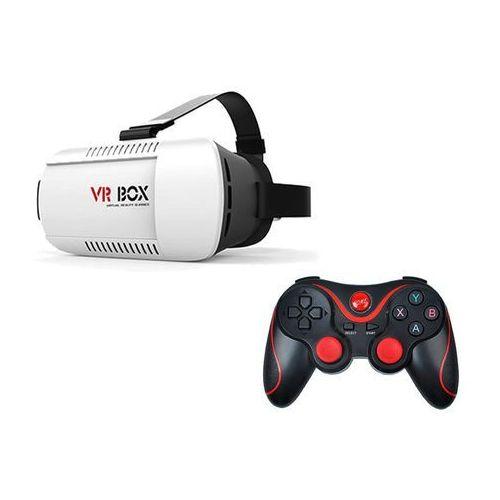 4kom.pl Okulary 3d vr box virtual reality oculus cardboard + gamepad