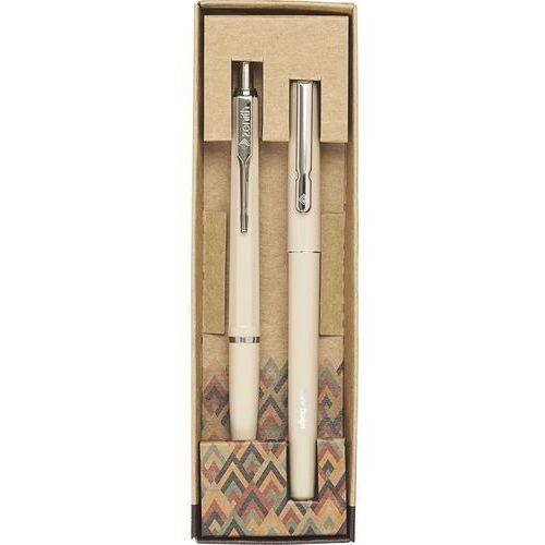 Komplet pióro i długopis Zenith 7 Retro + Omega Retro beżowy