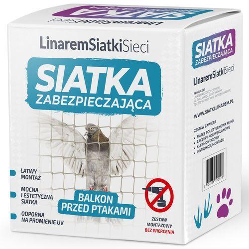 Linarem Siatka na gołębie na balkon. siatka przeciw ptakom 4x2m. zestaw do montażu bez wiercenia.