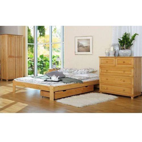 łóżko drewniane adrianna z szufladą 120 x 200 od producenta Frankhauer