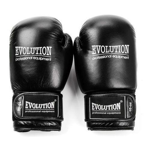 Evolution Rękawice bokserskie  basic skóra naturalna rb14 czarne