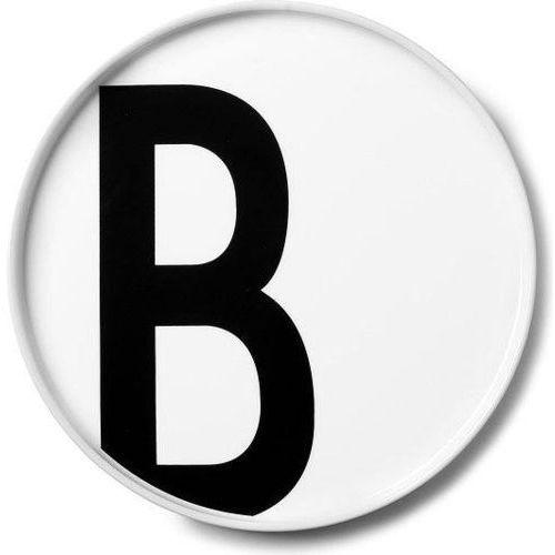 Talerz porcelanowy AJ litera B