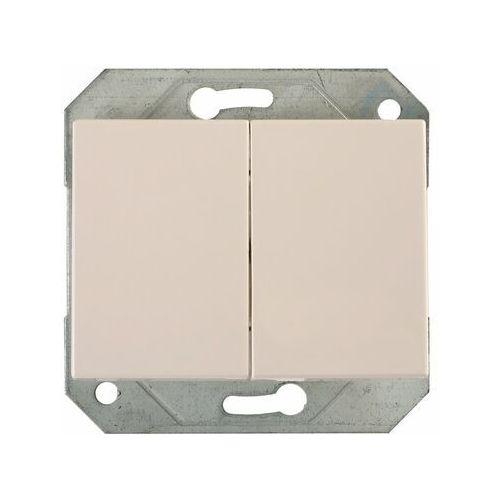 Włącznik podwójny biały vilma marki Dpm solid