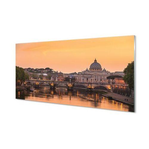 Obrazy akrylowe Rzym Zachód słońca mosty rzeka budynki