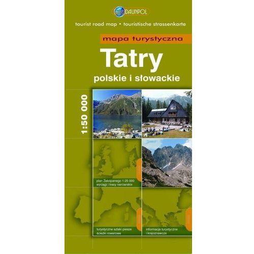 Tatry Polskie I Słowackie. Mapa Turystyczna W Skali 1:50 000, Daunpol