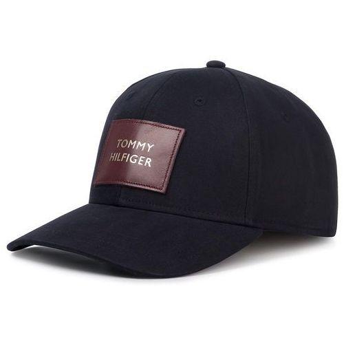 Czapka z daszkiem - tommy leather patch cap aw0aw07180 cjm marki Tommy hilfiger