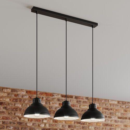 Lampa wisząca Sven 3 x 60 W E27 czarny mat (5907565990836)