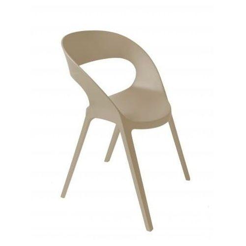 Krzesło carla piaskowe marki Resol