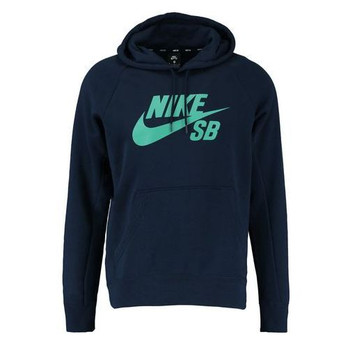 Nike SB ICON Bluza z kapturem obsidian/neptune green, XS-XL