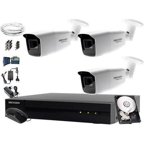 System monitoringu biura, firmy, parkingu Hikvision Hiwatch HWD-7104MH-G2, 3 x HWT-B340-VF, 1TB, Akcesoria, ZM10942
