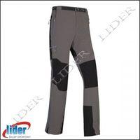 Spodnie trekkingowe męskie brenta - grey/black (1), Milo