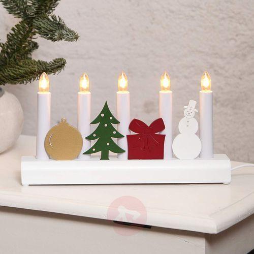 Kolorowy bożonarodzeniowy świecznik Julia (7391482007681)