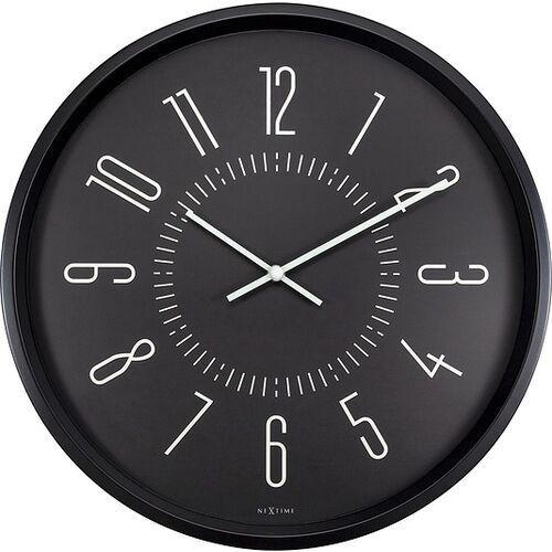 Nextime Zegar ścienny luminous 30 cm czarny (8717713027812)