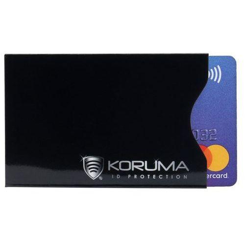 Koruma Ekranowane antykradzieżowe etui ochronne kart rfid paypass paywave - czarny