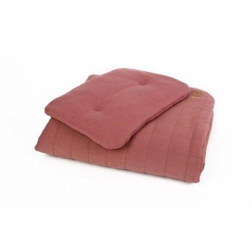Pościel bawełniana organic - kolor bordo - (wymiary: kołdra 80x100 cm, poduszka: 30x40 cm) - Poofi (5902052853175)