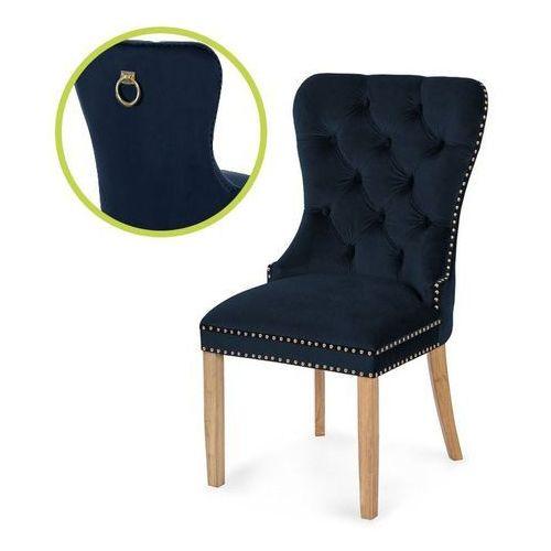 Atreve Krzesło madame ii gold granatowy/dąb so263