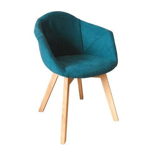 Krzesło tapicerowane Lena turkusowe, kolor niebieski