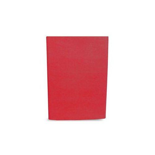 Prześcieradło bawełniane bez gumki 160x200 czerwony