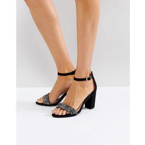 Miss KG Barely There Block Heeled Sandal - Black, kolor czarny