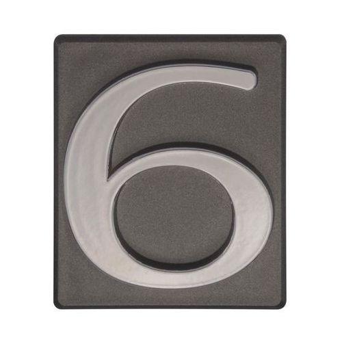 Cyfra 6/9 wys. 5 cm PVC grafitowa