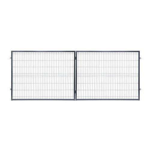 Brama panelowa 400 x 150 cm antracyt