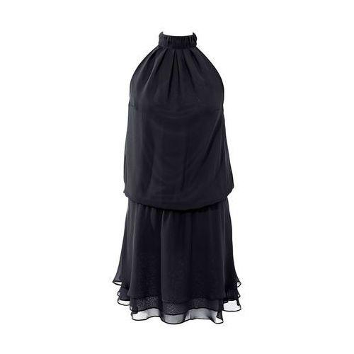 Sukienka szyfonowa w optyce warstwowej bonprix czarny, kolor czarny