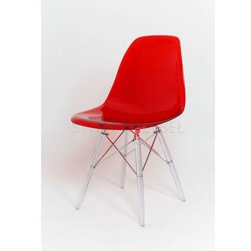 Sk design  kr012 trc krzesło lodowe - transparentny ||czerwony \ poliwęglan
