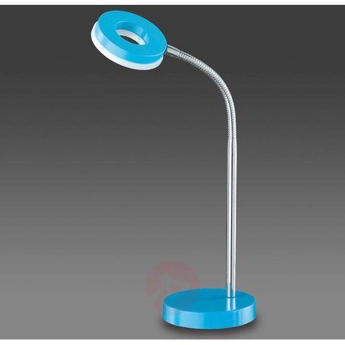 Reality lampka biurkowa led niebeieski, chrom, 1-punktowy - nowoczesny/lokum dla młodych/wesoły, śmieszny - obszar wewnętrzny - reality - czas dostawy: od 4-8 dni roboczych