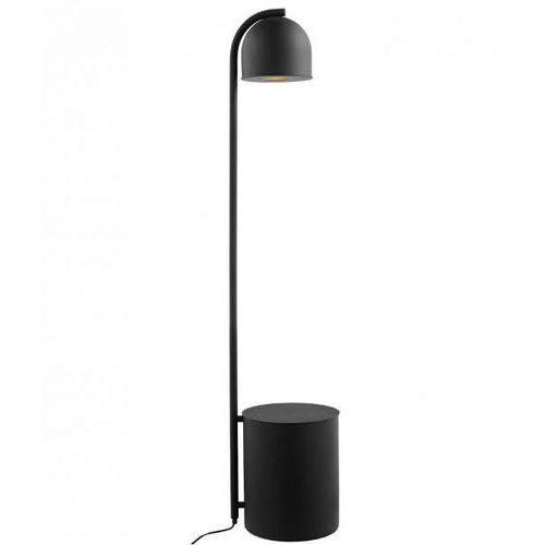 Kaspa Lampa stojąca botanica 40849102 metalowa oprawa podłogowa tuba z doniczką czarna (5902047304576)