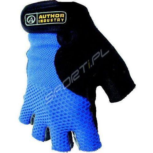 Rękawiczki kolarskie Author Team niebiesko-czarne