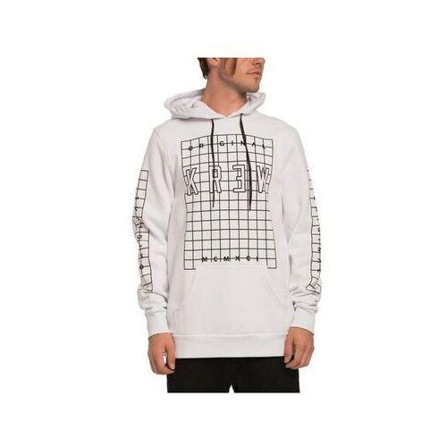 Bluza - lock grid pllvr swt white/black (102) rozmiar: l marki Krew