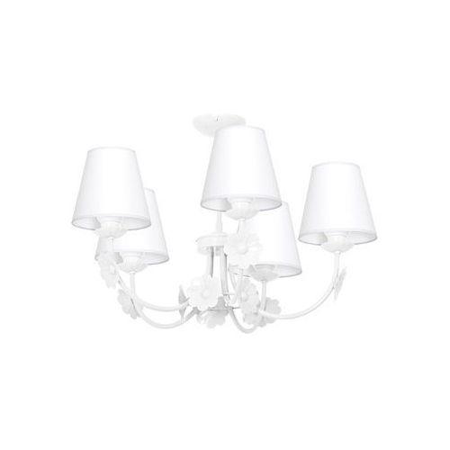 Dziecięca lampa wisząca KWIAT 5xE14/60W/230V biała (5907565956788)
