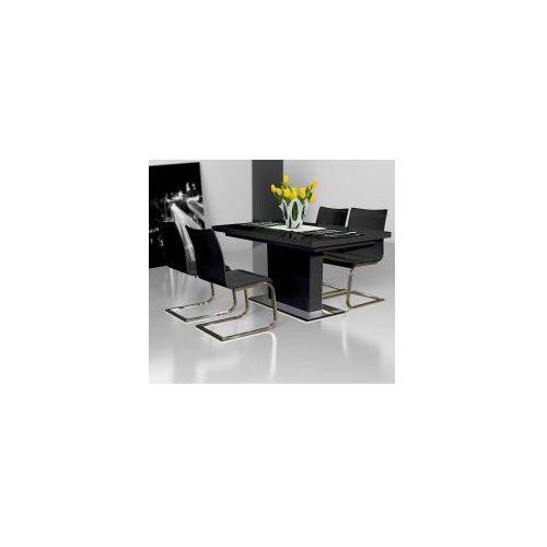 Stół EVITA GLASS BLACK 85x140/190, E911-9905