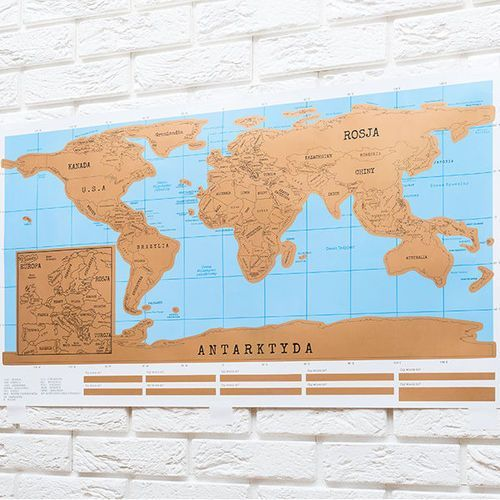 Mapa świata zdrapka WERSJA POLSKA (5903181044465). Najniższe ceny, najlepsze promocje w sklepach, opinie.