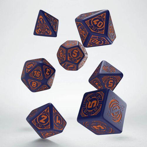 Komplet kości - starfinder: dead suns - niebiesko-pomarańczowy marki Q-workshop, paizo